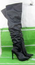 """NEW LADIES Black 4""""Stiletto High Heel Pointy Toe Over Knee Sexy Boots Size 7"""