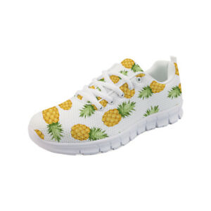 Pineapple Women's Sneakers Casual Sport Shoes Running Breathable Shoes 7 Size