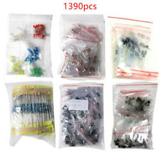 Lot 1390pcs Electronic Components Led Diode Transistor Capacitor Resistance Kit