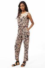 Ladies Womens Jumpsuit Stretchy Sleeveless Yoke Detail Playsuit One Size UK 8-12