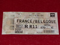 [COLLECTION SPORT FOOT] TICKET FRANCE / BELGIQUE 18 MAI 2002 Match Amical