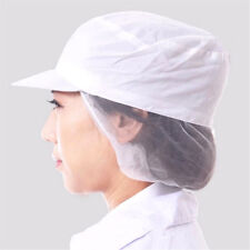 White Catering Hat Chef Bakers Bouffant Cap Food Hygiene Snood Cap Dust-proof