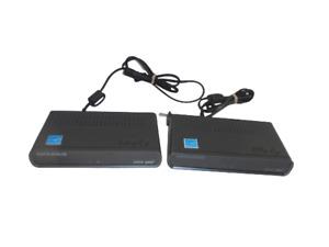 Lot of 2 Digital Stream DTX9950M Digital to Analog DTV Converter Box no access