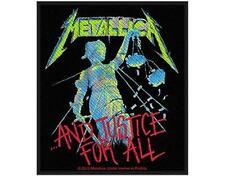 OFFICIAL LICENSED - METALLICA - AND JUSTICE FOR ALL SEW ON PATCH METAL NEW
