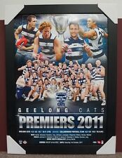 Geelong 2011 Premiership Official ESP AFL Print Black Frame Bartel Selwood