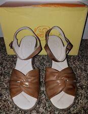 $81 NWB GABRIELLA ROCHA Womens Leather Wedge Shoes Stohlton Brown Size 9.5 (40)