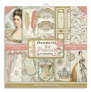 """Stamperia 8"""" x 8"""" Paper Pad - Princess 10/pk Double Sided Scrapbook"""