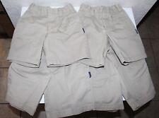 4 Pairs Boys Parker School Uniform Khaki Pleated Shorts Size 4
