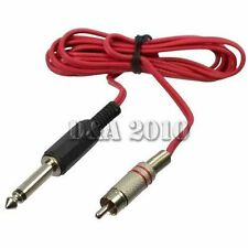 6FT RCA Clip Converter Power Supply Cord Cable For Standard Tattoo Machine Gun