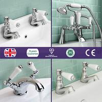 Imperior Traditional Victorian Sink Basin Mono Bath Filler Shower Chrome Taps