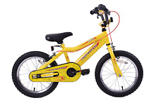 "Spider Boys 16"" Wheel Spiderman Style  Web Graphics Kids BMX Bike Yellow Age 5+"