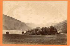 Roessinger Jeanneret, Suisse, Vue d'un lac et des montagnes, ca.1870, vinta