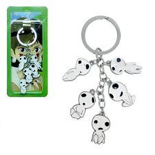 New Princess Mononoke Kodama Tree Spirits anime Cluster Keychain Key Rings