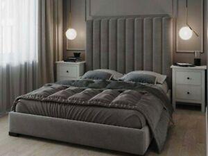 Crush Velvet Jupiter Bed, Panel Bed, Upholstered all Colour & Sizes RRP £999.99