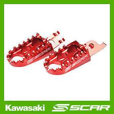 REPOSE CALE PIED STD KAWASAKI KX-F KXF 250 450 KX250F KX450F ROUGE SCAR RACING