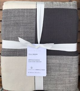 Pottery Barn Bryce Buffalo Check DUVET,  Size Full.Queen, New  W/ $159.00 tag
