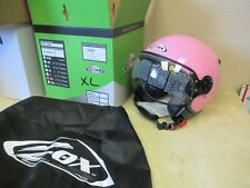 ZOX   3/4 SCOOTER / MOTORCYCLE HELMET WITH SHIELD  - ADULT XL PINK - DOT APPROV