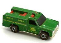 Hot Wheels 1970s Redline Green Forest Service Tools Unit 71 Fire Truck Good