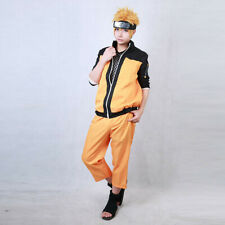 Japanese Anime Narutos Shippuden Uzumaki Outfit Adult Cosplay Costume Ninja Suit