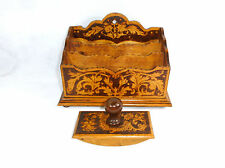 Letter rack und ein Snuffer Russia um 1900 Brand painting Wood Russia