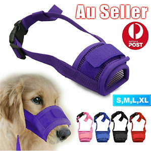 Pet Dog Adjustable Mask Anti Bark Bite Mesh Soft Mouth Muzzle Grooming Chewing