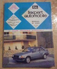 revue technique l'expert automobile N°206 FORD ESCORT XR3 I + FICHES TECHNIQUES