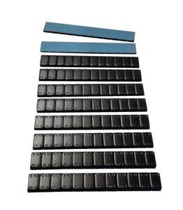 10 Stück Kleberiegel 12x5g | Klebegewichte 600g | Wuchtgewichte Felgen, SCHWARZ