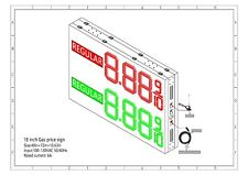 """LED Gas Price  Sign  48"""" X 72"""" Double Sided cabinet with 18 inch Digits"""