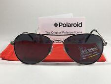 Authentic Polaroid Polarized Aviator Pilot Sunglasses Gunmetal Gray Metal P0233A