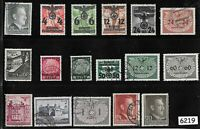 #6219  Stamp set Third Reich occupation of Poland during WWII General Government