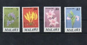 Stamps of  Malawi 1983 # Yv 409-412 MNH flowers set