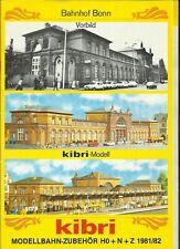 Katalog Kibri  1981/82 Modellbausätze Gebäude + Zubehör in HO 1:87