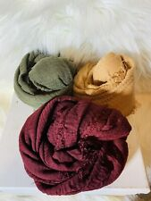 Women Crinkle Long Soft Scarves Ladies Head Wrap Shawl Scarf  LOT OF 3 STYLE#6