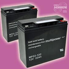 Akkus Batterie für Scooter Elektroroller Eco Engel 500, 4 x 12V 22Ah Blei AGM