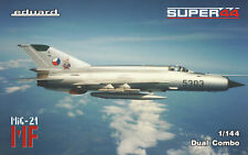 Eduard 4434 Super 44 DUAL COMBO 1:144th scale MiG-21 MF in Czechoslovak service