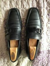 Salvatore Ferragamo Mens shoes Tenuta buckle leather Size 8D
