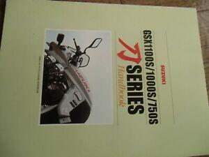 suzuki  ( KATANA )  GSX1100S  GSX1000S  GSX750S    Hand Book JAPAN
