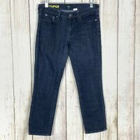 J.Crew Toothpick Women's Size 28 Crop Jeans Blue Dark Wash Slim Ankle Stretch