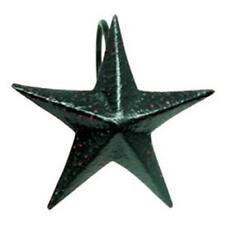 Country new black tin Star shower hooks / nice