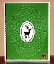 Stampin Up Holiday Frame Textured Impressions Embossing Folder - New - Retired