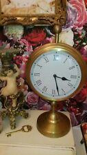Vintage Gold Timepiece Station Master Clock
