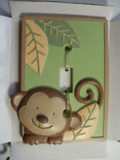 ELECTRIC NEW SWITCH PLATE Decor Cover 3D SINGLE TOGGLE Baby Monkey Leaf Jungle