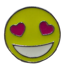With Colorful Enamel -Heart Eyes Hat Lapel Flair Tie Metal Pin