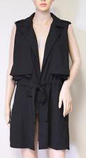 nwt CARTONNIER ANTHROPOLOGIE long black drape tie vest SMALL
