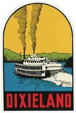 Dixieland  Confederate Civil War   Vintage 1950's  Style Travel Sticker Decal