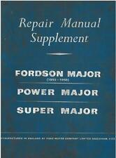 FORDSON MAJOR, POWER MAJOR, SUPER MAJOR TRACTOR REPAIR SERVICE MANUAL