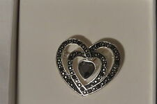 New With Tag Three Heart Silver Plated Pin