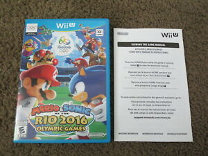 *NO GAME* Original Case+Insert ONLY! Mario & Sonic at the Rio 2016 Olympic Games