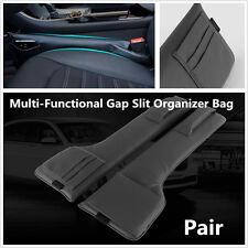 Pair Car SUV Seat Side Multi-Functional Gap Slit Pocket Phone Card Organizer Bag