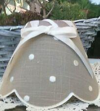 abat-jour Points Points Blanc Vintage tissu verrouillage abat-jour marron noeud